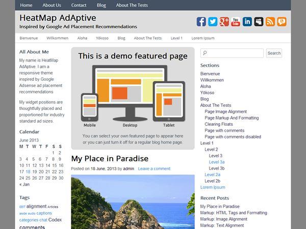 HeatMap-Adaptative, otro excelente tema responsivo para WordPress | GUTL