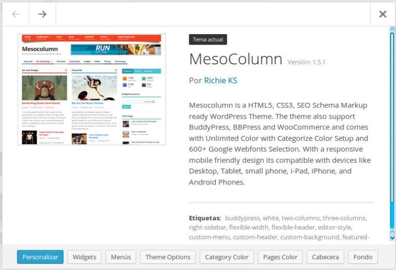 Mesocolumn, una excelente plantilla responsiva para WordPress | GUTL