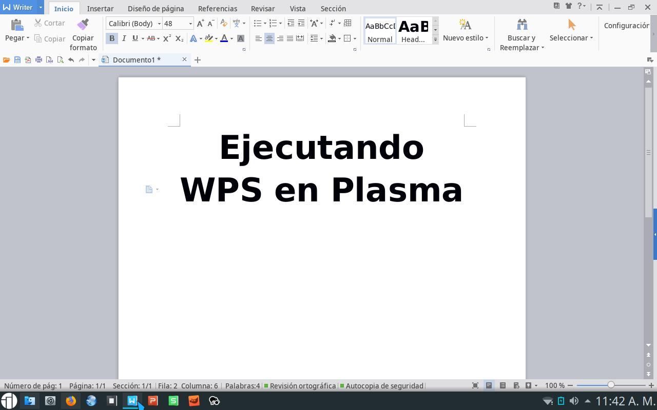 Usando WPS Office en Plasma | GUTL